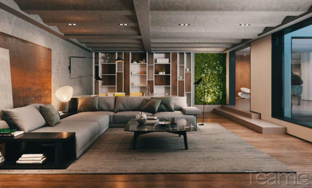 Living Room Interior Render